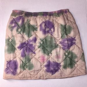 Urban Outfitters quilted hand dyed mini skirt